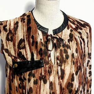 Animal print with faux leather